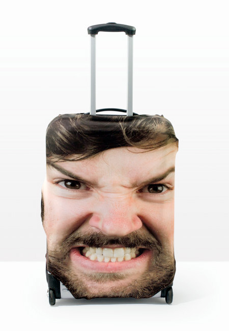 Head Suitcase Cover