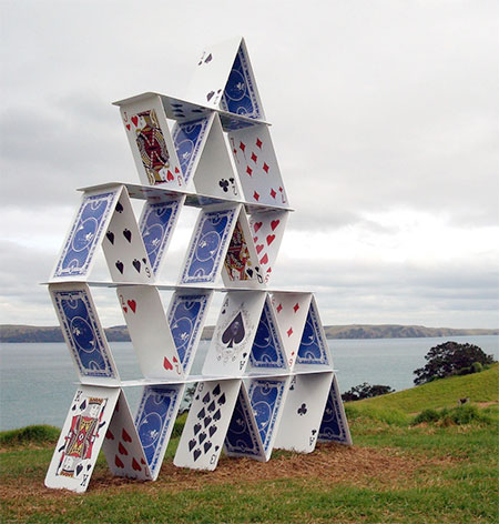House of Cards Sculpture