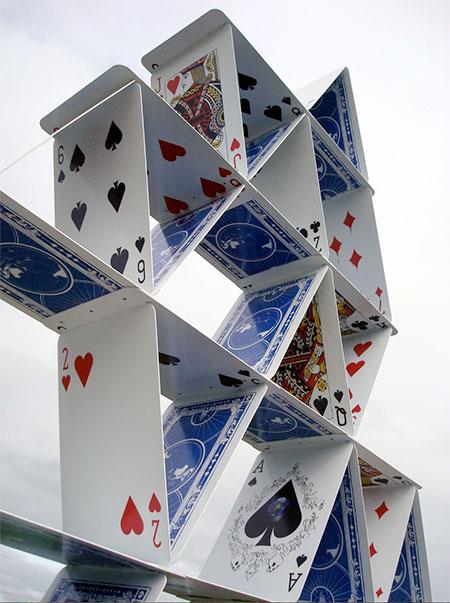 Fletcher Vaughan House of Cards Sculpture