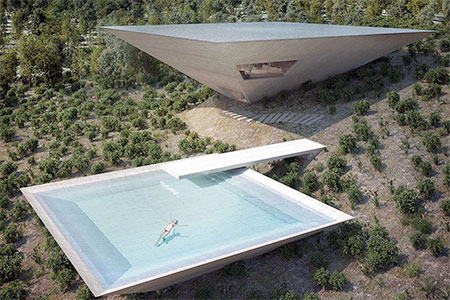 Inverted Pyramid House Concept