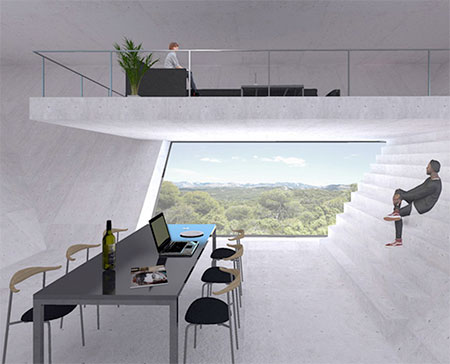 TNA Inverted Pyramid House Concept