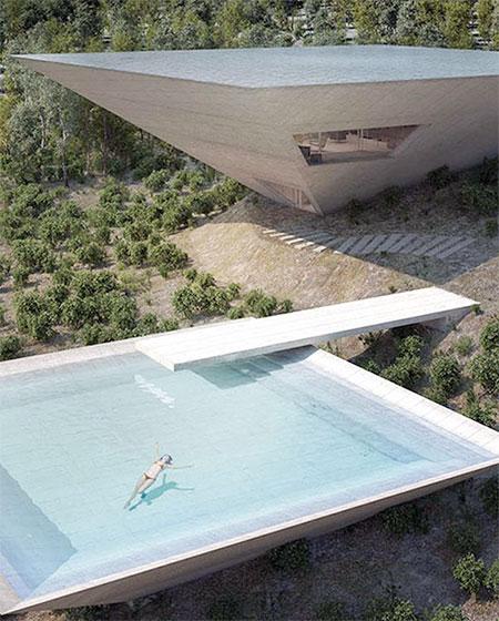 TNA Architects Inverted Pyramid House