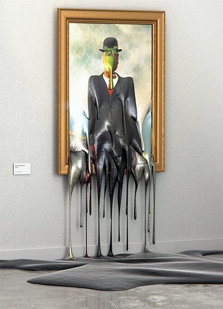 Melting Famous Paintings