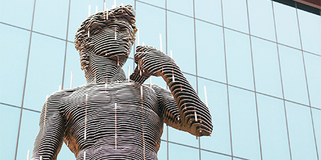 Sliced Metal Sculptures