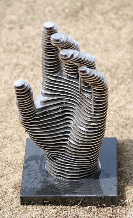 Sliced Steel Sculpture