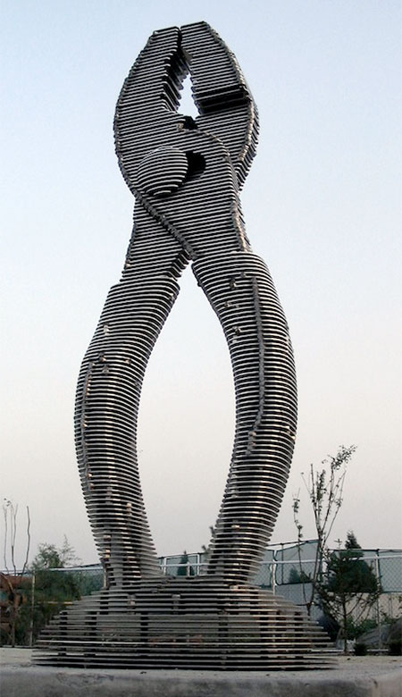 Park Chan Girl Sliced Metal Sculptures