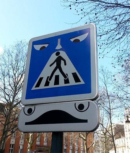 Clet Abraham Traffic Signs Art