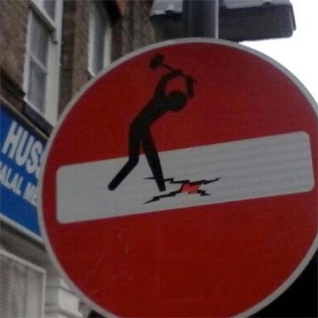 Clet Abraham Street Signs Art