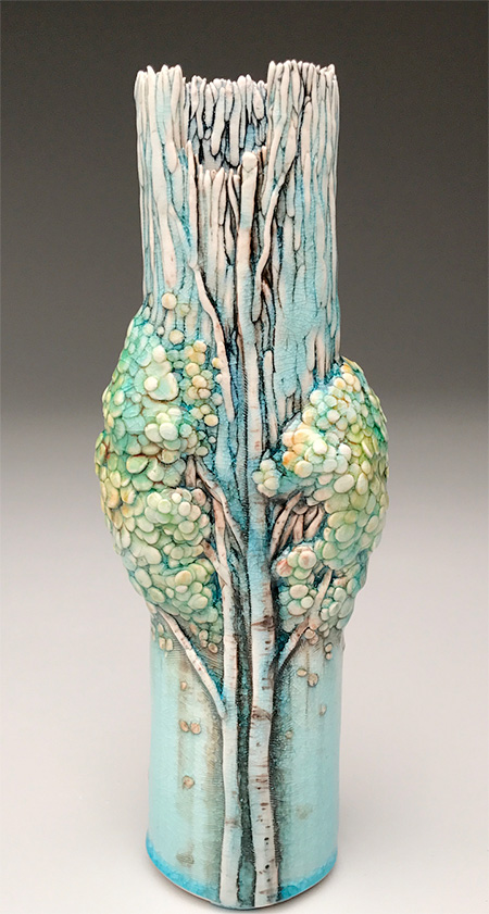 Heesoo Lee Ceramic Tree Vases