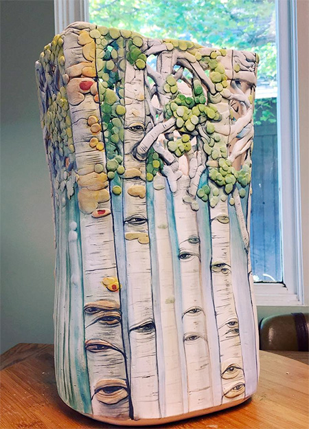 Heesoo Lee Ceramic Tree Vase