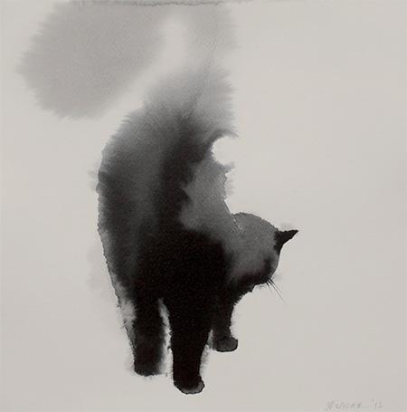 Endre Penovac Watercolor Cats