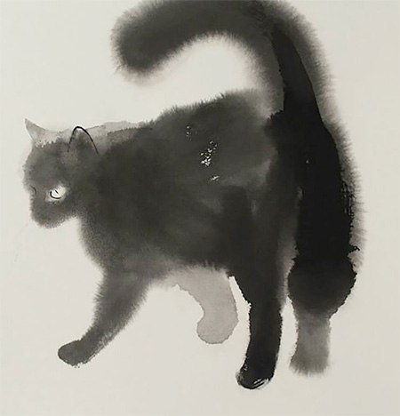 Watercolor Cats Paintings