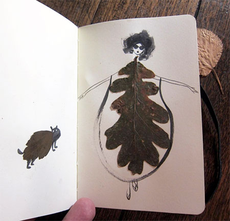 Drawings Made With Leaves