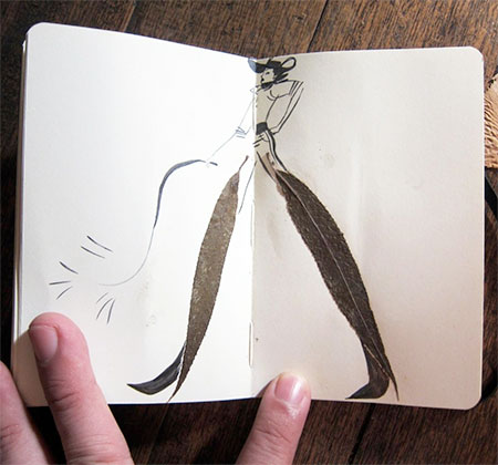 Drawing Made With Leaf
