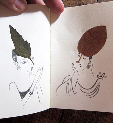 The Sketching Backpacker Leaf Drawings