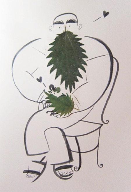 The Sketching Backpacker Leaf