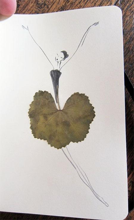 The Sketching Backpacker Leaf Illustrations