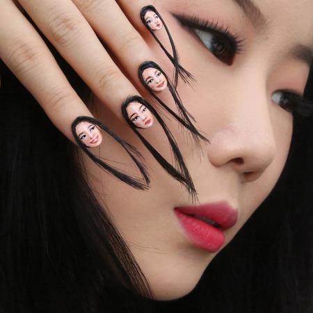 Dain Yoon Face Fingernails