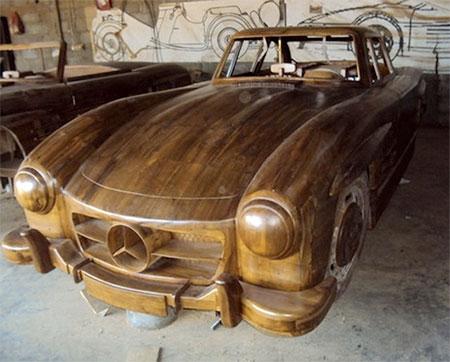Wooden Mercedes Benz 300SL