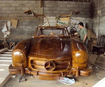 Wooden Mercedes Benz