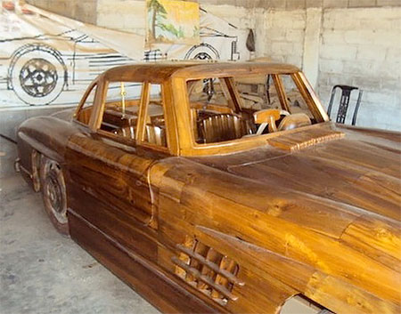 Wooden 1955 Mercedes Benz