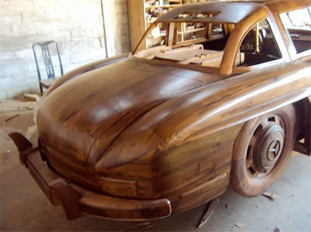 Wooden 1955 Mercedes
