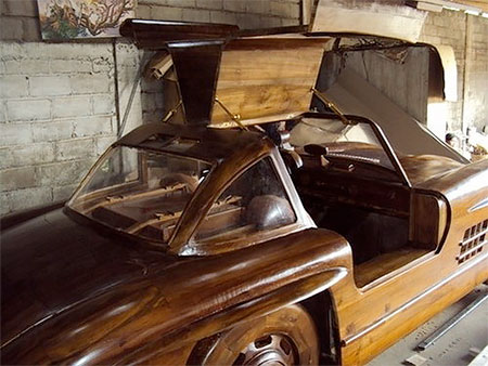 Wooden Mercedes Car