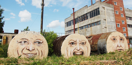 Giant Faces Street Art