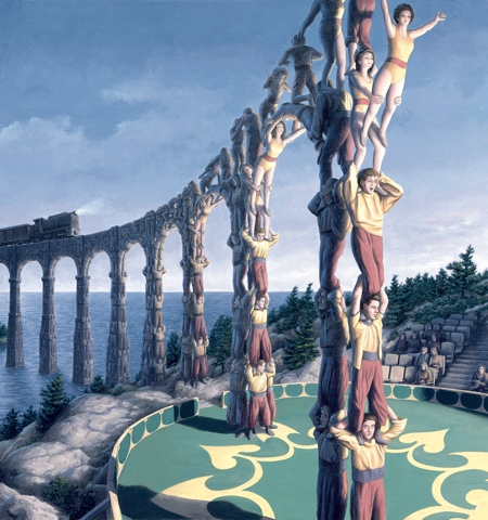 Rob Gonsalves Optical Illusion Paintings