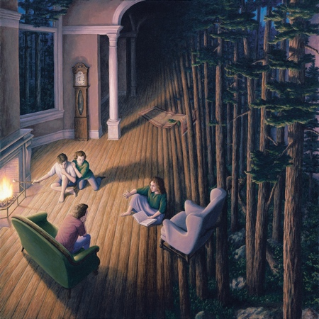Rob Gonsalves Optical Illusion Painting