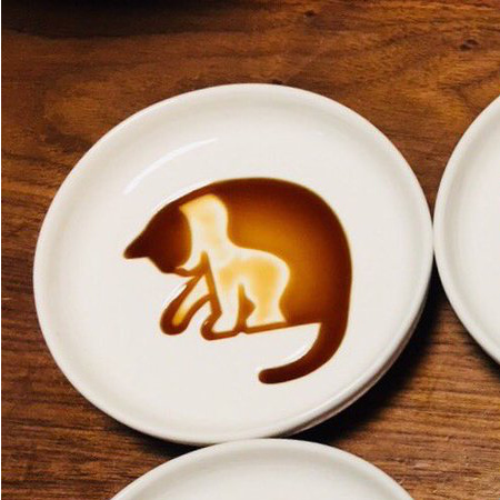 Cat Soy Sauce Dish