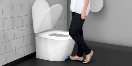 Step to Open Toilet