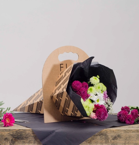 Cardboard Flowers Packaging