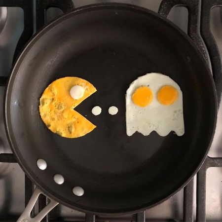 Michele Baldini Fried Egg Art