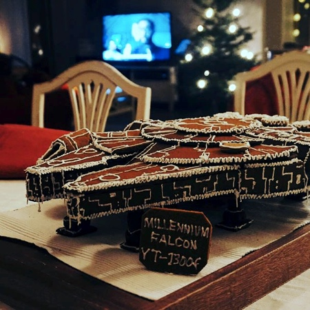 Gingerbread Millennium Falcon