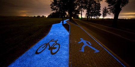 Illuminated Bicycle Path