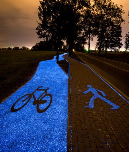 Illuminated Bike Path