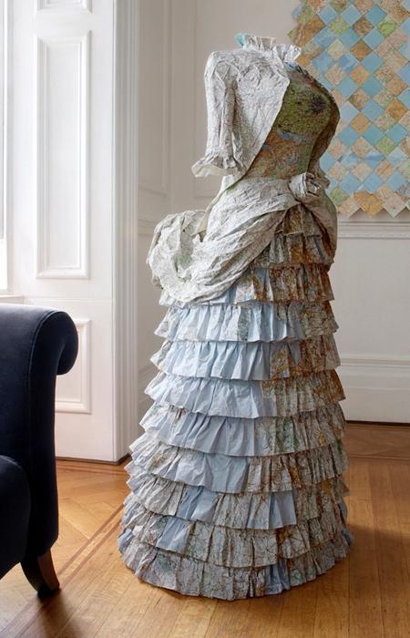 Dress Made of Maps