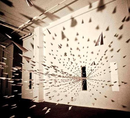Paper Planes Art Installation