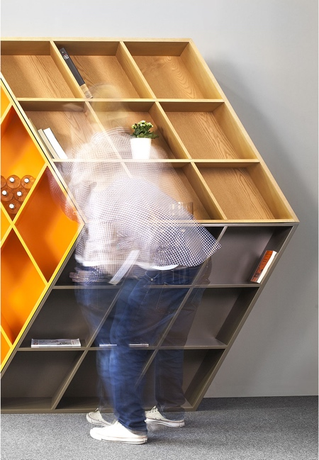 Rubiks Cube Bookshelf