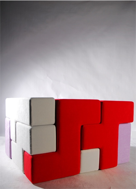 Tetris Block Furniture. Gaen Koh TAT Tris
