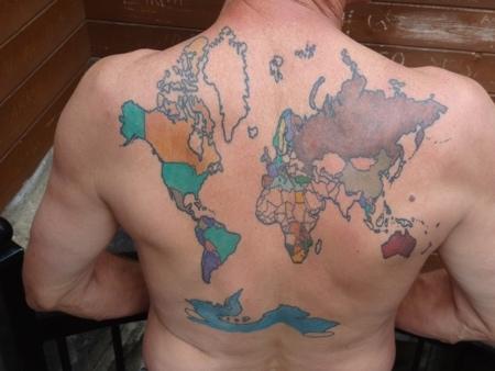 World Map Traveler Tattoo