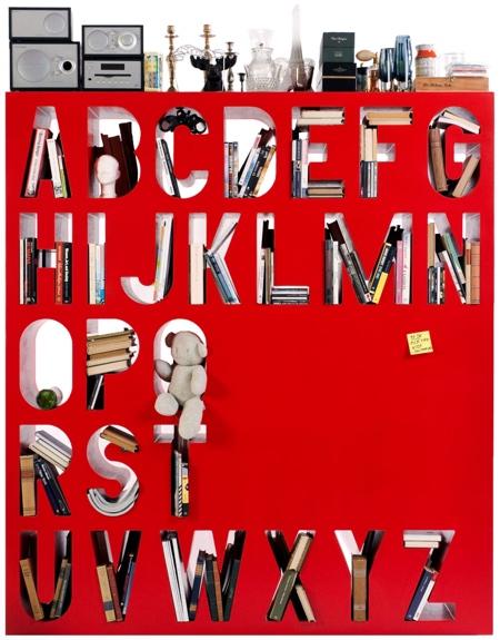 Alphabet Bookcase