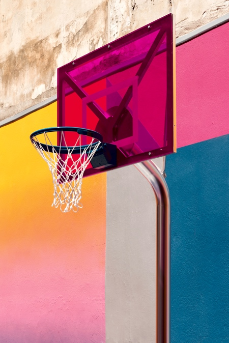 Colourful Basketball Court