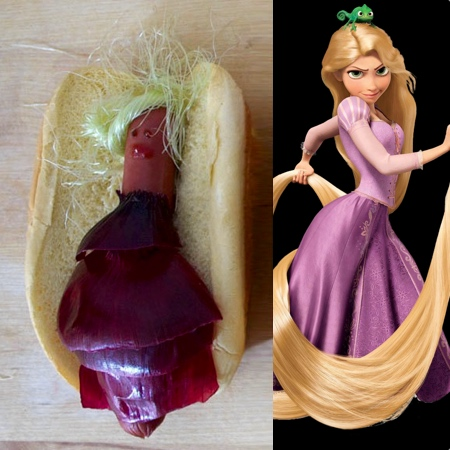 Rapunzel Hot Dog