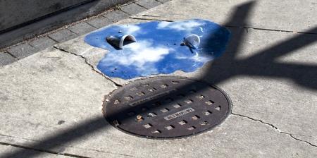 Fake Puddles Street Art