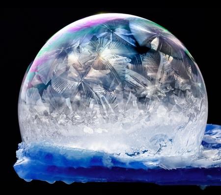 Frozen Ice Bubbles