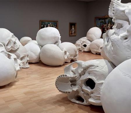 Ron Mueck Human Skulls