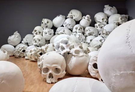 Ron Mueck Skulls
