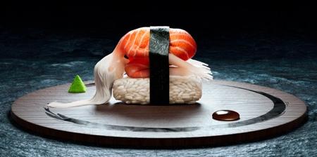 Human Sushi Yoga